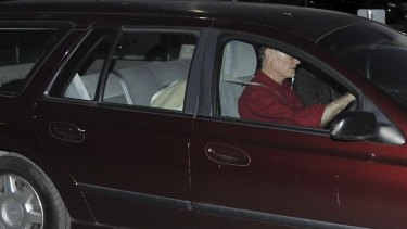 A car drives David Eastman from prison.
