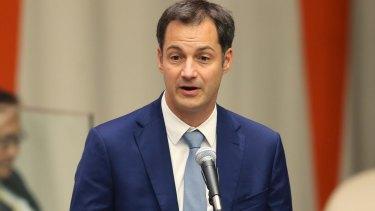 Alexander De Croo, deputy prime minister of Belgium.