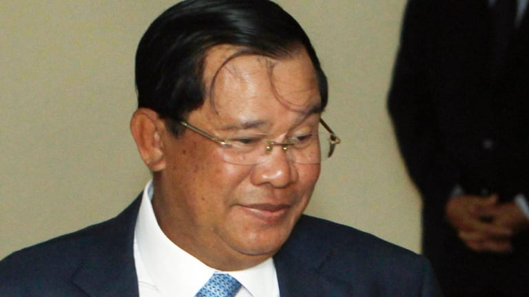 Opposed: Cambodian Prime Minister Hun Sen in Phnom Penh.