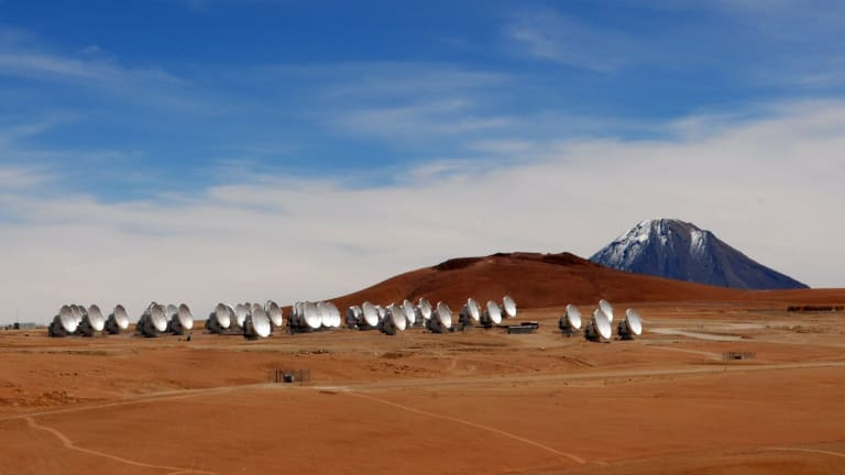 Antennas on the Chajnantor Plateau in northern Chile.