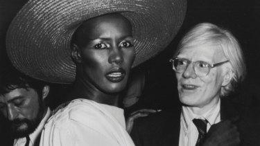 Grace Jones and Andy Warhol at Studio 54.