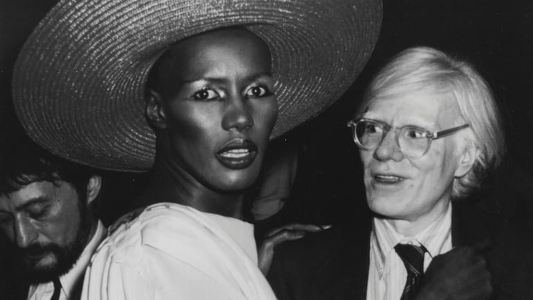 Grace Jones and Andy Warhol at Studio 54.