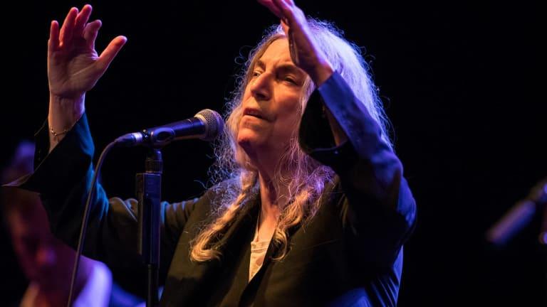 Patti Smith whipped the crowd into a spiritual frenzy.