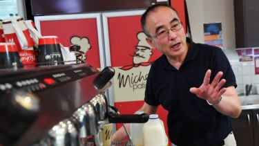 Wayne Hong, a Michel's Pattiserie franchisee, complains that RFG treats store owners poorly.