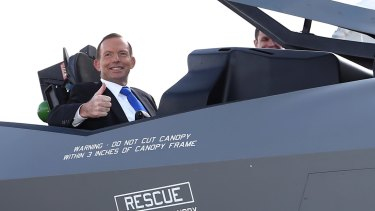 In April 2014 Tony Abbott announced Australia would buy 58 more F-35 fighters.