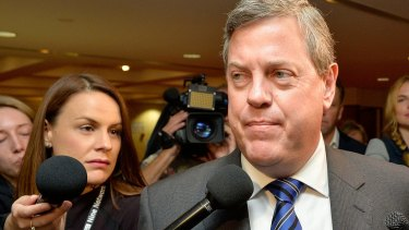 Tim Nicholls on the morning of the LNP spill.
