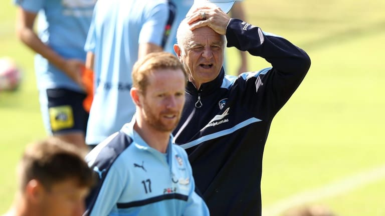 """Once an """"actor"""", now truly a coach: Graham Arnold."""