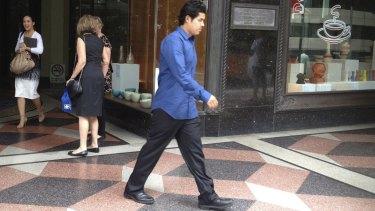 Caught in Dubai: Ahmad Saiyer Naizmand said he was leaving Australia to help his uncle in Malaysia.