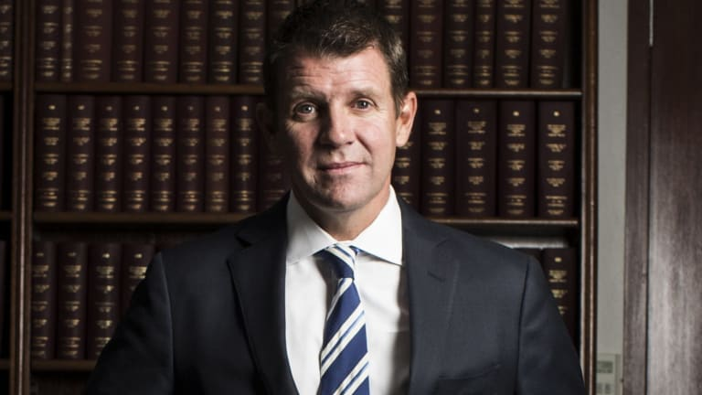 NSW Premier Mike Baird in his office at State Parliament in March.
