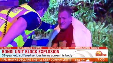A man was injured in a gas explosion at a Sydney unit block.