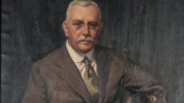 Norman Carter's 1936 portrait of Howard Hinton (detail shown) will be exhibited at Hazelhurst Regional Gallery.