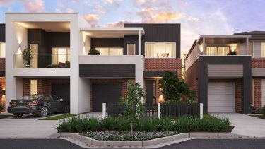 Artist impression of Stockland townhouses at Willowdale, Sydney.