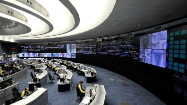 MTR's high-tech operation command centre in Hong Kong.