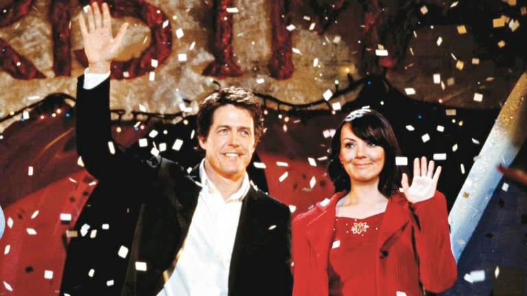 Hugh Grant and Martine McCutcheon in Love Actually.