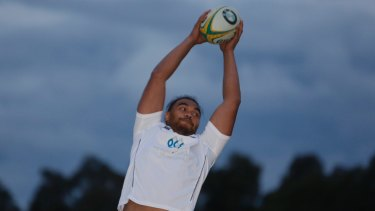 Waratahs forward Senio Toleafoa trains with the Rams.