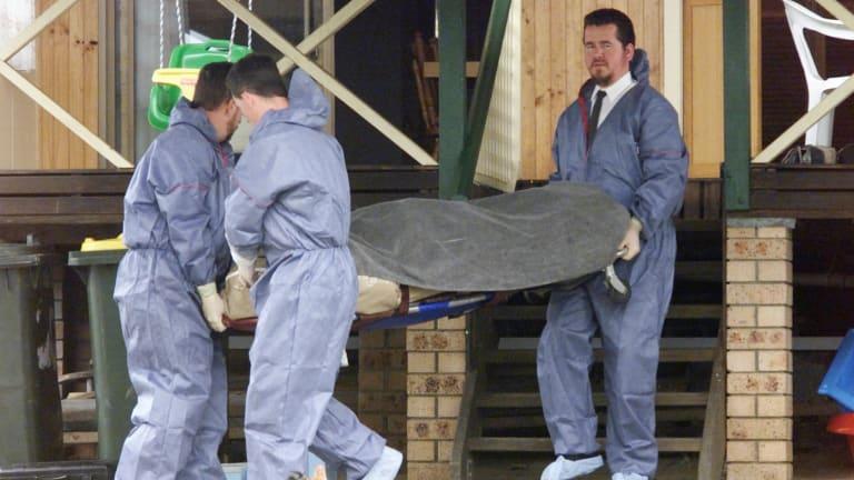 Jack Van Krevel's body is carried away.