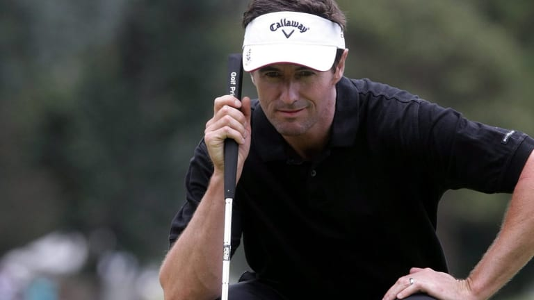 Shafted: Australian golfer Mark Hensby has been suspended by the PGA tour for one year after a doping violation.