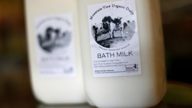 Mountain View Organic Dairy Bath Milk.