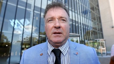 Former One Nation senator Rod Culleton outside the High Court in December.