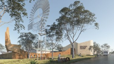 The planned restoration of the Waltzing Matilda Centre at Winton after the original burned down in 2015.