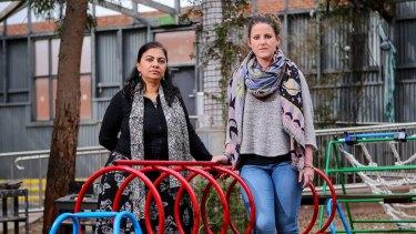Monash Caulfield Child Care Centre director Rukmini Bose-Rahman (left) and assistant director Tara Hart.