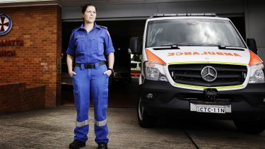 Horrifying statistics: Paramedic Janine Kiely is one of hundreds of paramedics assaulted across Sydney in the past twelve months.