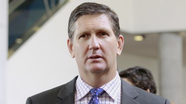 Lawrence Springborg lost the LNP leadership in a party room meeting on Friday.