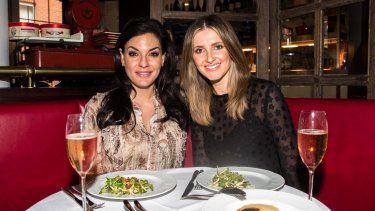 Nicole O'Neil (left) lunching with Kate Waterhouse at Bistrot Gavroche in Chippendale.