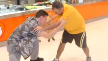 A fight for a free falafel at the Kwinana Town Centre.