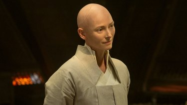 Tilda Swinton as The Ancient One in Marvel's 'Doctor Strange'.