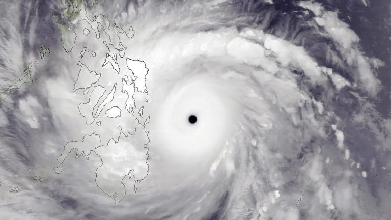 Super Typhoon Haiyan as it approached the Philippines in November 2013.