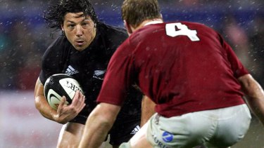 Byron Kelleher in action against the British and Irish Lions in 2005.