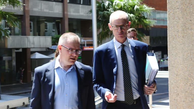 Richard Dammery (left), Woolworths director at the Federal Court on Thursday.