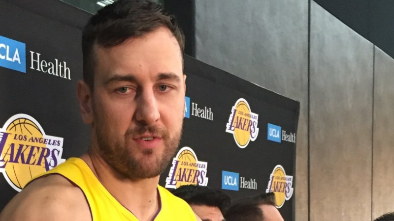 Andrew Bogut happy just to get through Los Angeles Lakers debut