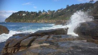 A rock ledge at Whale Beach.