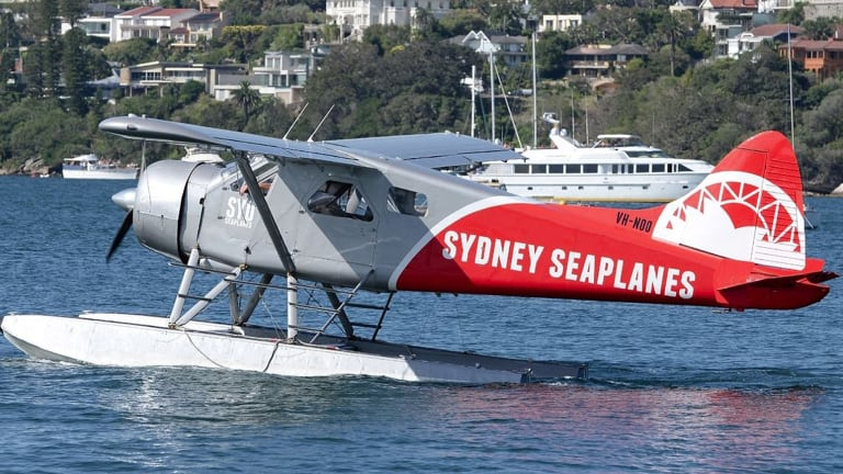 The seaplane was returning from a New Year's Eve lunch at a picturesque restaurant on the NSW Hawkesbury River when something caused it to plunge into the water and rapidly sink.