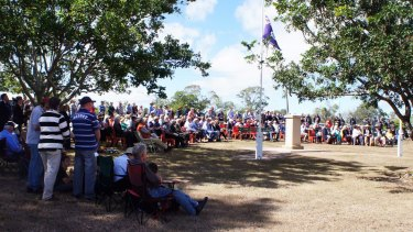 About 300 people turned out for the Anzac Day ceremony at Acland.