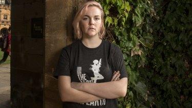 Student Kendra Murphy, at Sydney University.