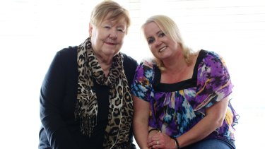 """""""Family doesn't have to be blood"""": Lainie Harnett and Sandra Wright."""