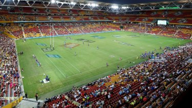 General view during the Rugby Global Tens match between Samoa and Blues at Suncorp Stadium.