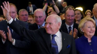 """Former PM John Howard says populist resentment is """"nowhere near"""" the same in Australia as it is in the US."""