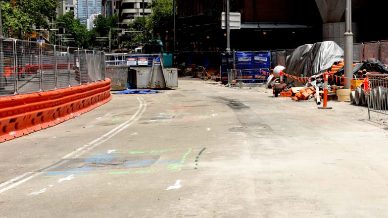 Sections on George Street remain far from finished as deadlines loom.