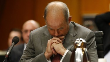 IOOF chief executive Chris Kelaher faced heavy questioning from the Senate.