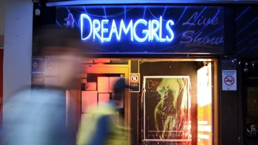 Now closed: DreamGirls on Darlinghurst Road in Kings Cross.