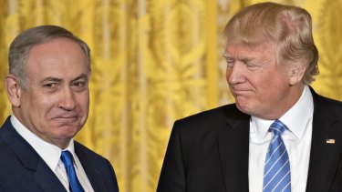 Partners: Israel's PM Benjamin Netanyahu with US President Donald Trump.
