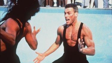 Jean-Claude Van Damme in Lionheart, one of his 59 movies.