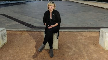 Tania Isbester took her fight to save her dog Izzy from being put down to the High Court of Australia in Canberra.