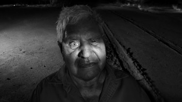 Belinda Mason's photo of Yami Lester, who was robbed of his eyesight by the Maralinga nuclear testing.