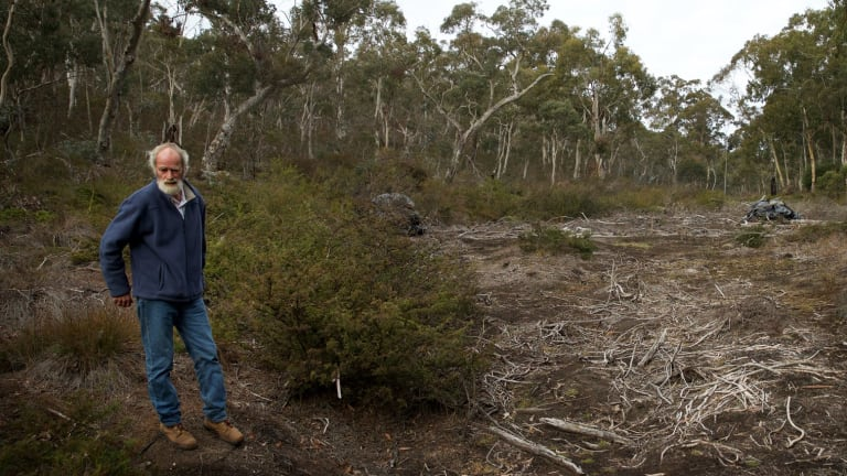 Chris Jonkers of the Lithgow Environment Group at East Wolgan swamp, which has been extensively damaged by subsidence from the underground coal mine.