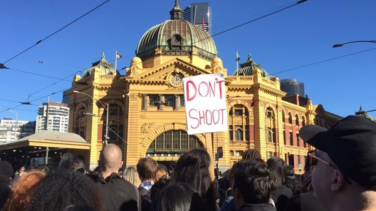 A sign at the Black Lives Matter protest in Melbourne
